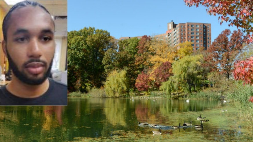 The body of Khiron Anderson was discovered in the water at Oakland Lake Thursday (Facebook and NYC Parks)